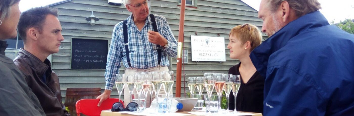 Tasting at Court Garden vineyard